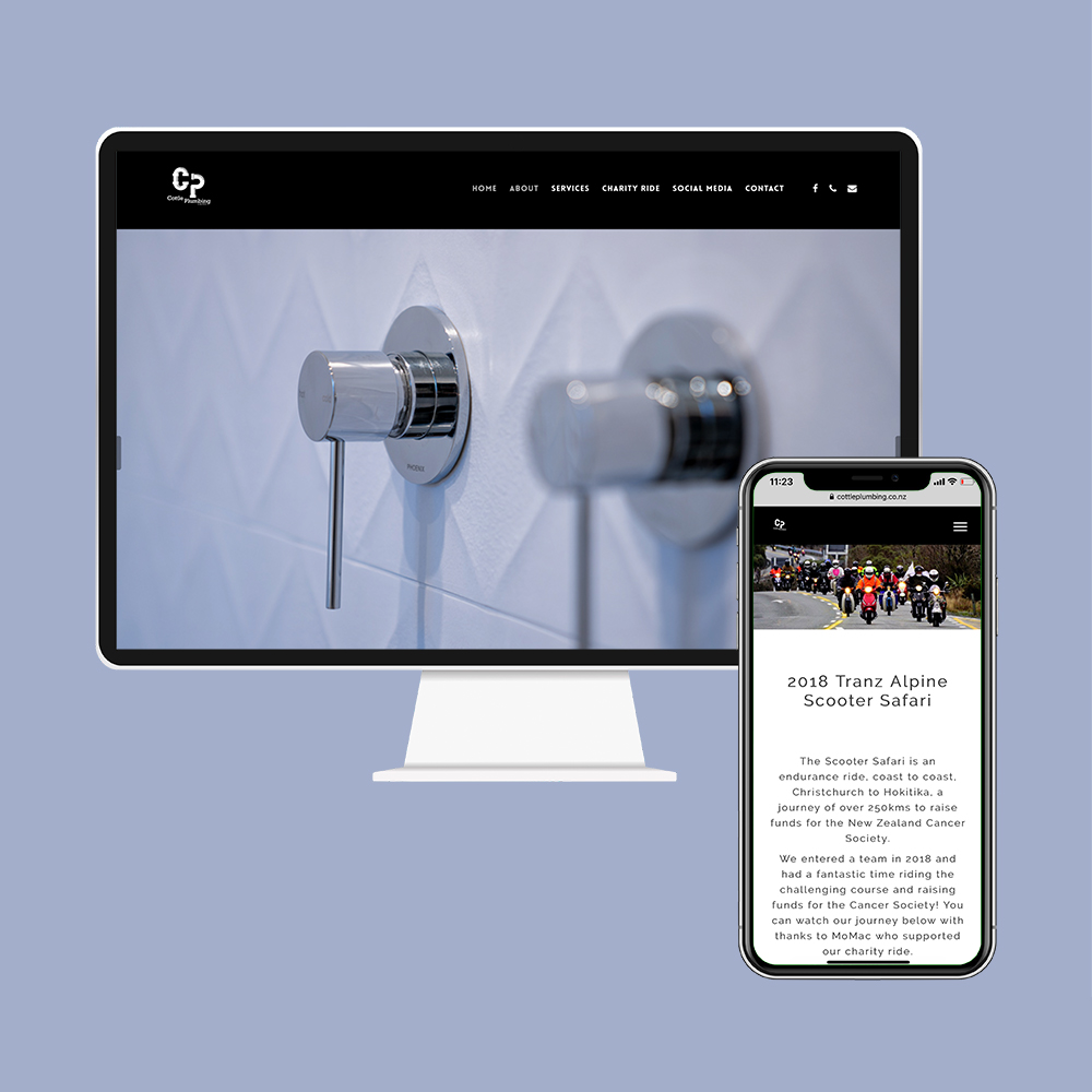 Cottle Plumbing had their website designed and built by the web developers in Christchurch at MoMac