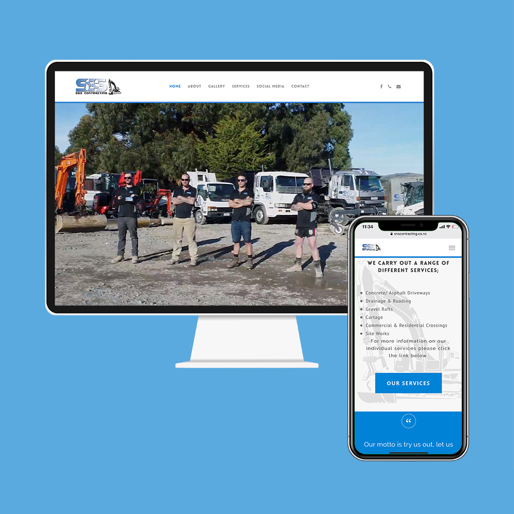 S&S Contracting had their website designed and built by the web developers in Christchurch at MoMac