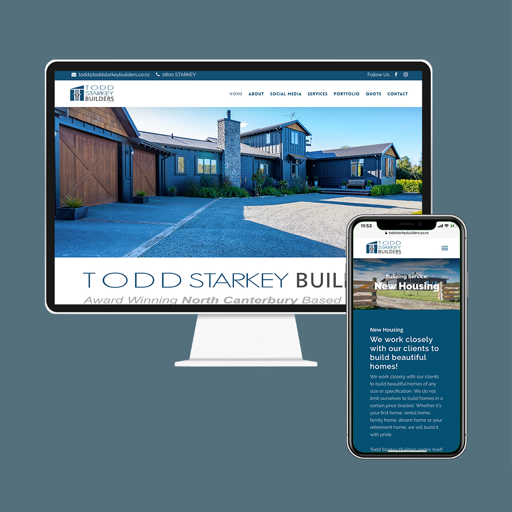 Todd Starkey Builders had their website designed and SEO done by the web developers at MoMac