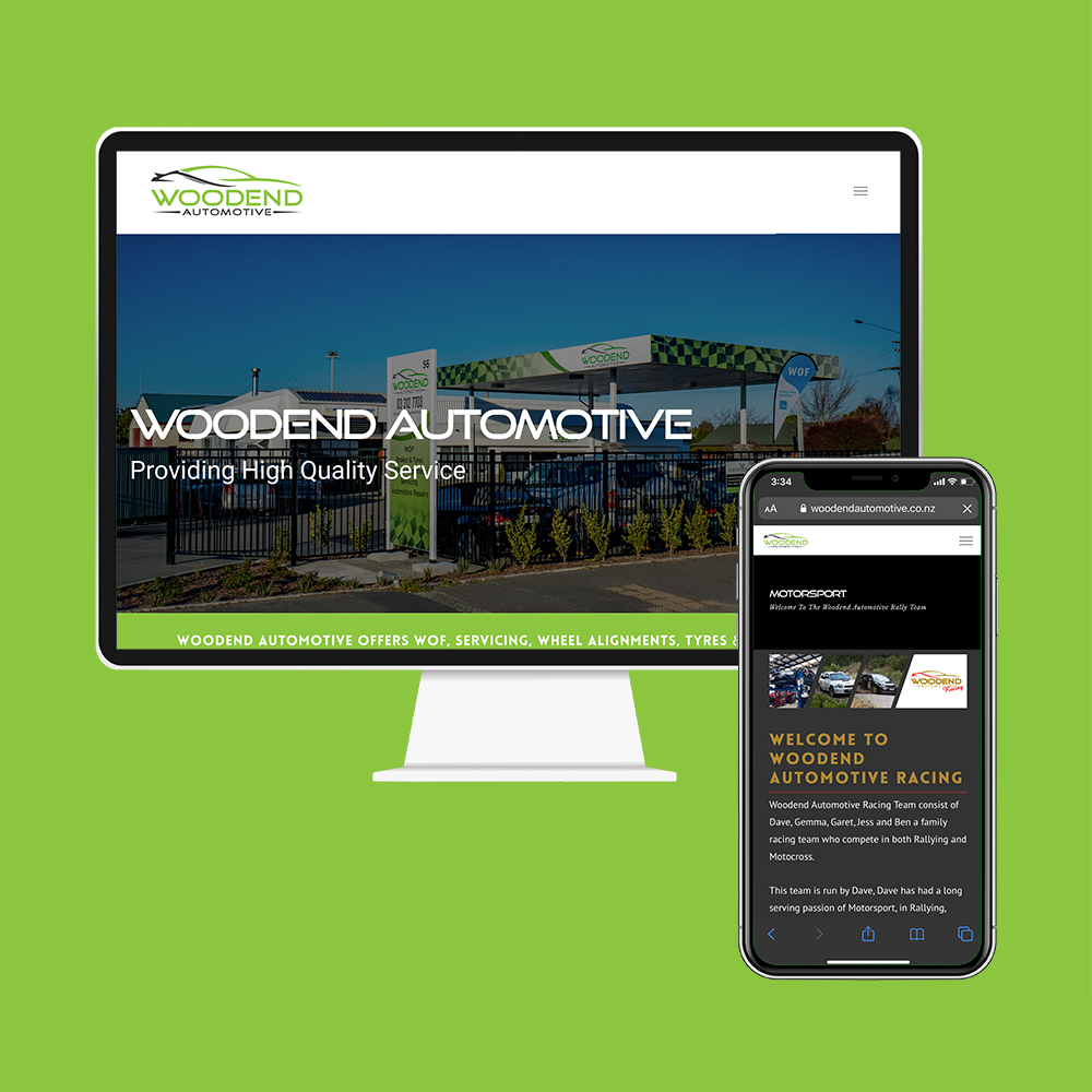 Woodend Automotive had their website designed and SEO done by the web developers at MoMac